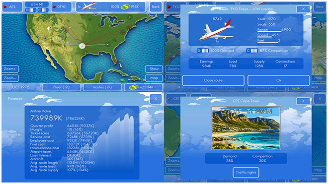 Airline business tycoon game